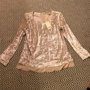 Jodifl Crushed Velvet Blouse Size Small NWT